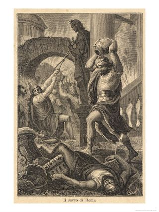 10013045the-fall-of-rome-alaric-s-visigoths-sack-rome-displaying-a-deplorable-lack-of-esthetic-appreciation-posters