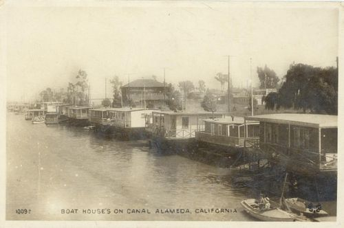 House Boats on Canal, Alameda