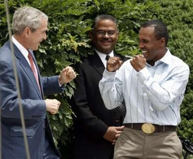 Bush & Sugar Ray Leonard
