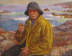 'Gloucester_Fisherman',_oil_on_canvas_painting_by_Joseph_Margulies,_private_collection